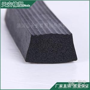 供应黑色梯形橡胶发泡密封条橡胶防撞条三元乙丙密封条