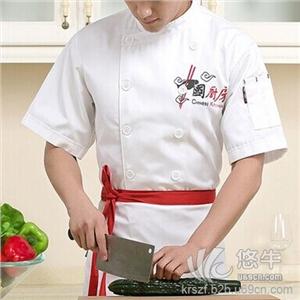 武昌定做西餐厅饭店夏季短袖厨师工作服咖啡店蛋糕西点房男女厨师服夏定制