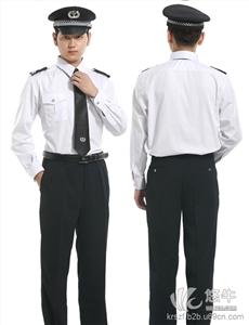 物�I工作服保安服�L袖�r衣定做小�^保安服春秋�b保安服�b定做