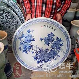 供应不同规格大瓷盘陶瓷青花大瓷盘酒店海鲜大瓷盘
