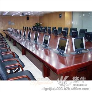 显示器 产品汇 供应多媒体会议桌,带电脑的会议桌,升降显示器会议桌