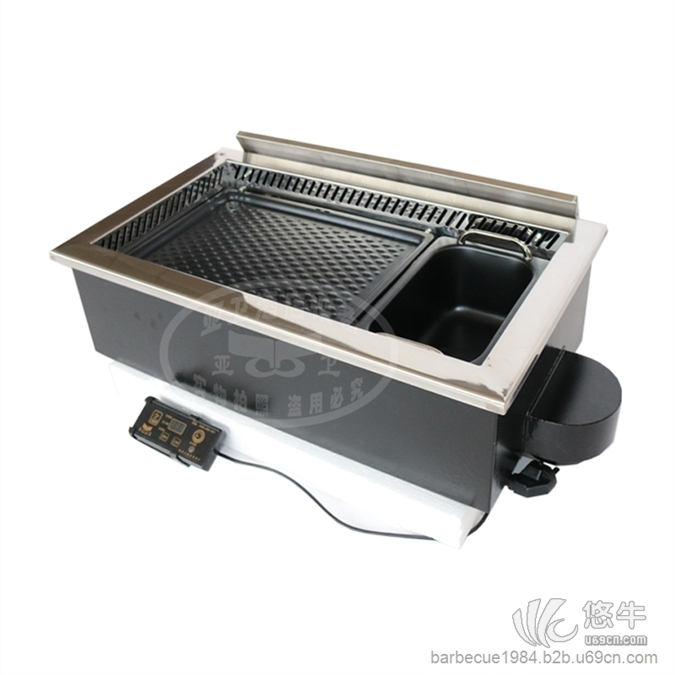 加长版方形韩式烤涮炉630
