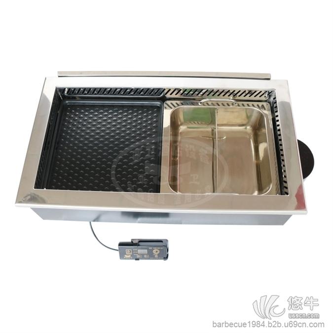 655方形升级版烤涮一体炉烤涮炉火锅烧烤一体锅