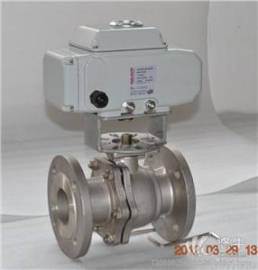 供应【国标品质】电动球阀电动不锈钢法兰二通球阀DN50Q941F-16