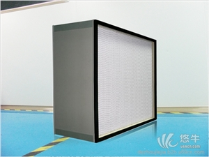供应中效板式过滤器/龙骨支架,有隔板高效空气过滤器,高效耐高温过滤器