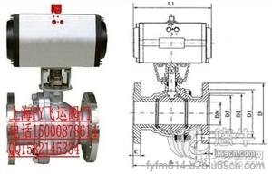 供应不锈钢法兰气动球阀Q641F-16/25/40/64P