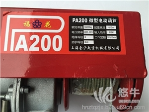 供应福花PA200微型电动葫芦,江西民用葫芦福花牌微型电动葫芦