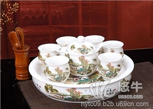 供��景德�陶瓷茶具定制�Y品景德�茶具