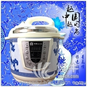 青花瓷款智能微电脑电饭锅厂家特价时尚全自动电压力锅