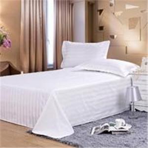 全棉贡缎坯布 产品汇 供应全棉贡缎单人双人床纯色素色酒店宾馆纯棉床单
