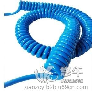 斯拜秀供应2芯1.5平方蓝色人体静电释放报警器螺旋电缆,除静电弹簧线厂家