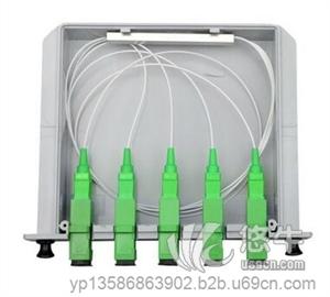有线湿水牛皮纸胶带 产品汇 供应SCAPC插片式分光器1分4广电光分路器有线电视光纤一比四