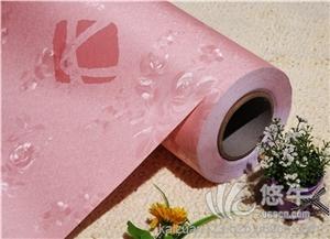 供应粉色婚房欧式田园墙纸