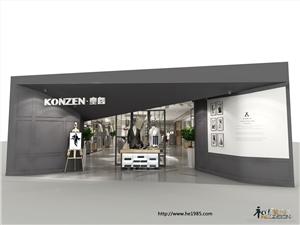 供应和室装饰专卖店设计konzen男装