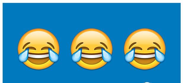 emoji表情   这家机构解释称,这个表情显示了现代人内心对无拘无束放声大笑的渴望。然而这似乎有点脑补过度了,因为在我们印象里这个表情一般都用在哭笑不得或是笑尿了的场合中。说是对大笑的渴望实在是难道这世上还有人不让你笑吗?   德新社也作出报道称,2015年emoji表情笑哭脸使用频率高达数十亿次,相当于平均每个地球人都用了一回这个表情符。   事实上这个表情在去年就获得了牛津词典年度词汇的桂冠,这也是第一个成为牛津词典年度词汇的表情符号,可见这个表情在去年是多么的火。