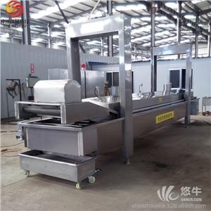 供应厂家专业生产电加热自动连续式油炸线电加热自动连续式油炸