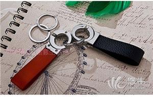 供应伟新真皮情侣钥匙扣-创意礼