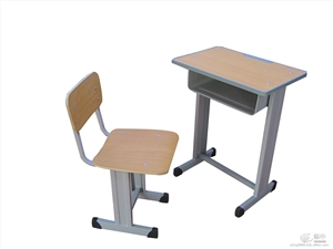 供应钢木结构学生课桌椅单人升降课桌椅学生课桌