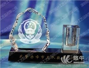 供应水晶办公用品三件套 银行周年庆礼品纪念品办公用品