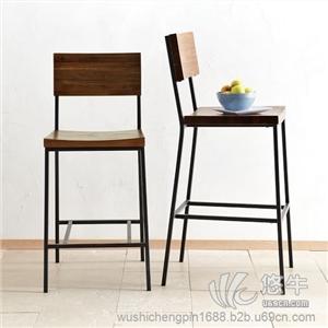 供应吴氏诚品实木方椅靠背吧椅酒吧