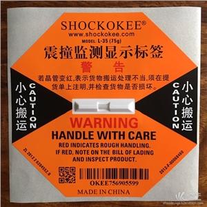 供应SHOCKOKEE75G防震撞标签