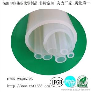 供应高透明食品级硅胶管 耐高温挤出胶管高透明食品级硅胶管