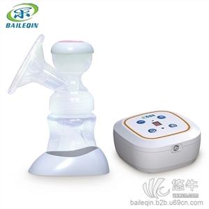 供应百乐亲电动吸奶器 智能静音可拆锂电池吸奶器