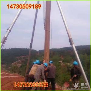 供应立安齐全四川15米电线杆人工立杆器人形立杆机