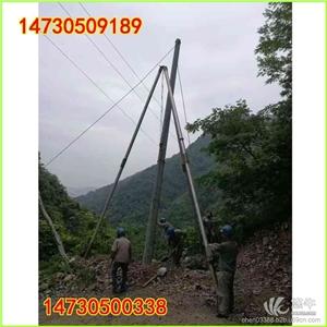供应立安齐全立12米电线杆加厚分节三脚立杆机人字起重抱杆