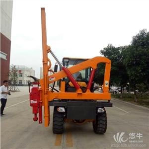 供应铲车改装公路护栏打桩机铲车改装护栏打桩机