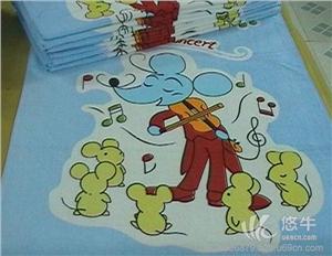 供应三好70*140*600克纯棉活性印花卡通浴巾