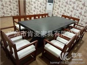 供应肯麦厂家直销白蜡木家具定制现代实木沙发新中式桌椅