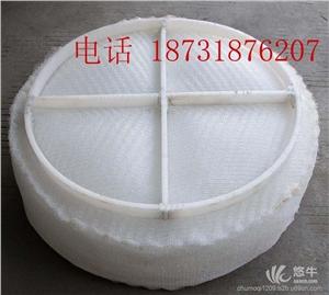 供应聚丙烯PP化工丝网除雾器上装式下装式pp丝网除沫器