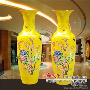 供应景德镇落地大花瓶,1.8米大花瓶陶瓷花瓶落地大花瓶