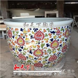 供应定做泡澡陶瓷大缸厂家 定做洗浴陶瓷大缸泡澡洗浴缸