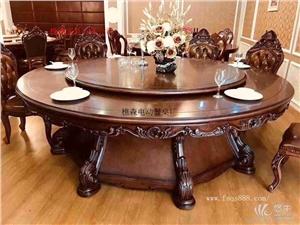 供应电动实木雕花餐桌 酒店餐桌椅 电动转盘 电动实木雕花餐桌