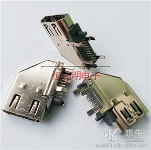 供应HDMI 19P侧插母座90度侧立式插板 HDMI19P侧插